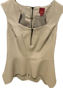 G.I.L.I. Faux Leather Top Gray