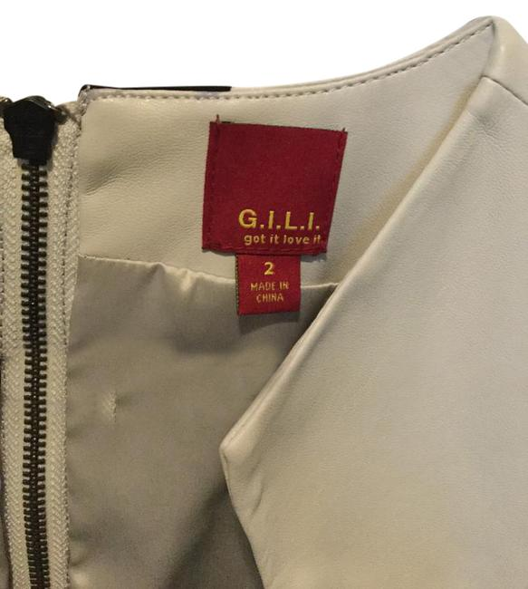 G.I.L.I. Faux Leather Top Gray Image 2