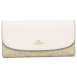 Coach Coach Signature PVC & Leather Checkbook Wallet NWT