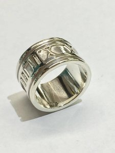 Tiffany & Co. BEAUTIFUL Tiffany & Co. Wide Atlas Ring Size 4.5 Sterling Silver