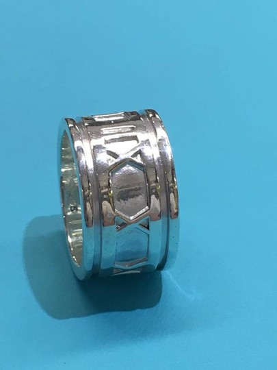 Tiffany & Co. BEAUTIFUL Tiffany & Co. Wide Atlas Ring Size 4.5 Sterling Silver Image 8