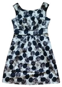 Kate Spade short dress White, black and grey Floral Pockets Sheath Tailored on Tradesy