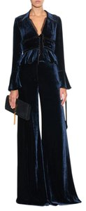 Emilio Pucci Emilio Pucci Tulle-edge Velvet Jacket in Blue with Matching Pants