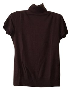 Banana Republic Silk Cashmere Turtleneck Top brown