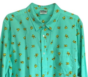 Pokémon Pikachu Button Down Shirt Teal