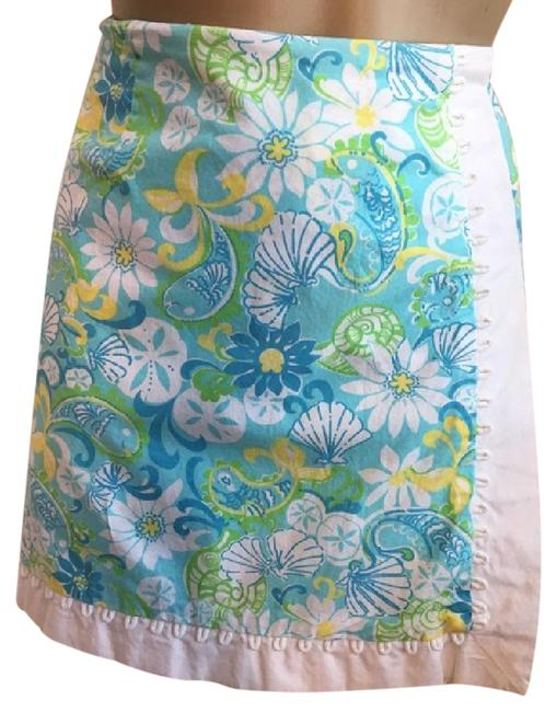 Lilly Pulitzer Blue & White Skirt Size 8 (M, 29, 30) Lilly Pulitzer Blue & White Skirt Size 8 (M, 29, 30) Image 1