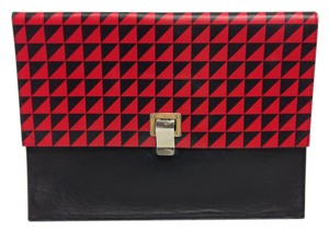 Proenza Schouler Black and Red Clutch