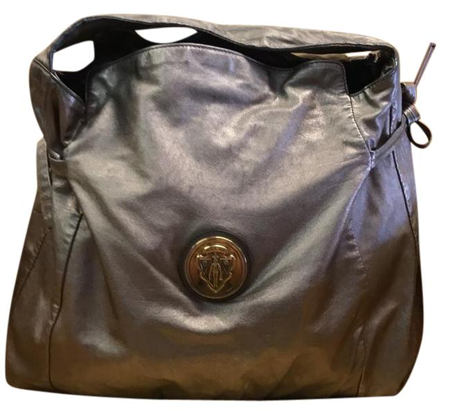 Gucci Hysteria Top Handle Pewter Leather Hobo Bag Gucci Hysteria Top Handle Pewter Leather Hobo Bag Image 1