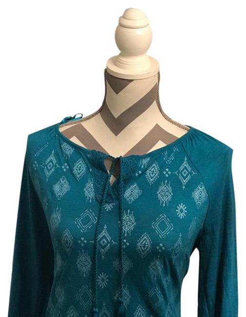 Style & Co Teal Blouse Size 10 (M) Style & Co Teal Blouse Size 10 (M) Image 1