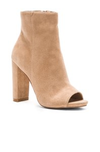 Steve Madden Peep Toe Summer Fall Tan Taupe Boots