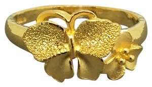 Other 24K Solid Gold Butterfly and Flower Ring