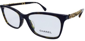 Chanel Chanel Tortoise and Gold Blooming Bijou Eyeglasses 3344-A c.714 54