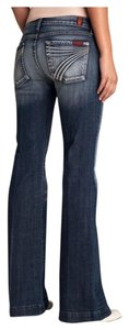 7 For All Mankind Flare Leg Jeans-Light Wash
