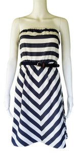Outback Red short dress Blue, white Striped Strapless Belt on Tradesy