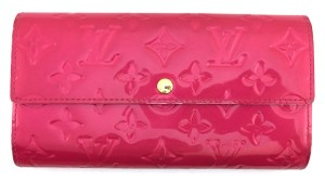 Louis Vuitton #11335 Long Vernis leather sarah Wallet Zippy Pocket holder monogram