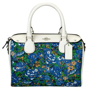 Coach Crossbody Floral White Satchel in multi color