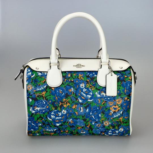 Coach Crossbody Floral White Satchel in multi color Image 1