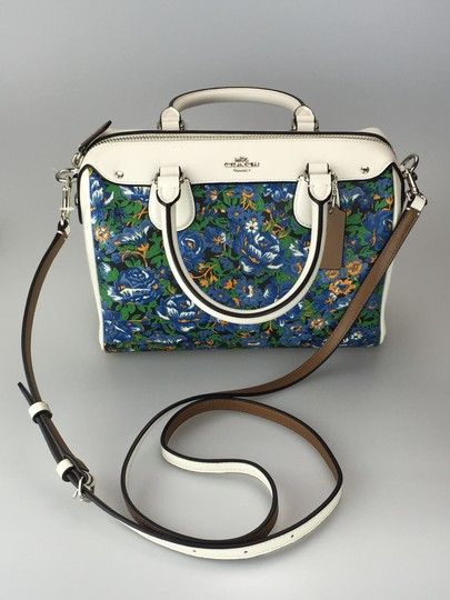 Coach Crossbody Floral White Satchel in multi color Image 2