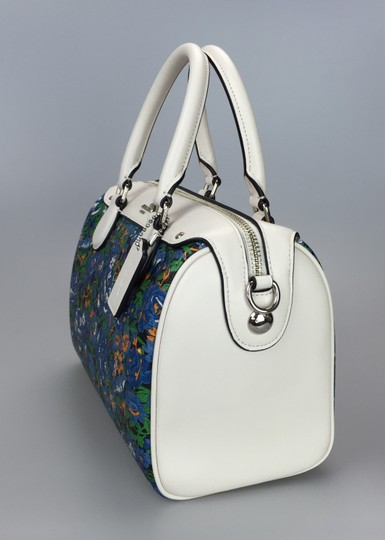 Coach Crossbody Floral White Satchel in multi color Image 5