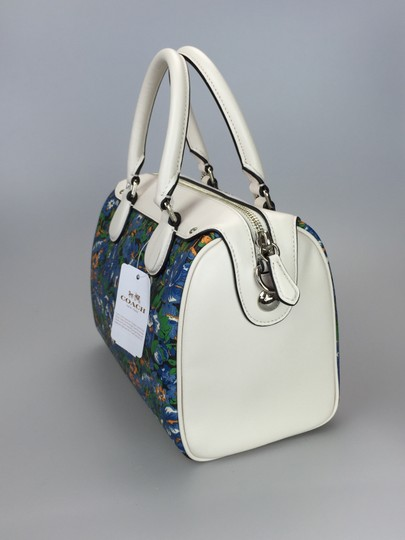 Coach Crossbody Floral White Satchel in multi color Image 6