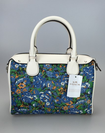 Coach Crossbody Floral White Satchel in multi color Image 7