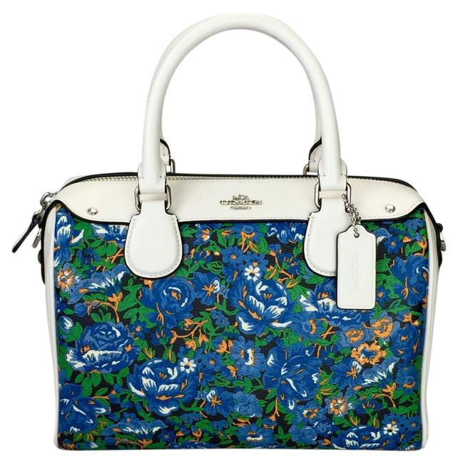 Coach Crossbody Hand-painted Floral Multi Color Satchel Coach Crossbody Hand-painted Floral Multi Color Satchel Image 1