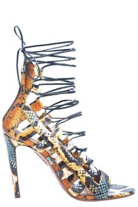 Aquazzura Leather Python Sandals