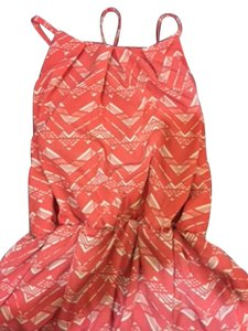 Windsor short dress Coral and White Halter Key Hole Tie on Tradesy