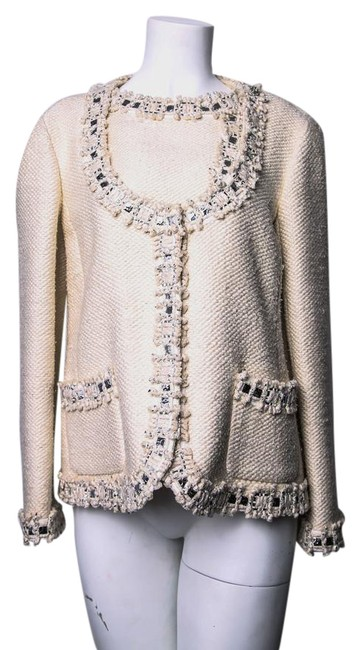 Chanel Off White Tweed Jacket Size 8 (M) Chanel Off White Tweed Jacket Size 8 (M) Image 1