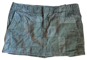American Eagle Outfitters Boho Festival Summer Beach Grunge Mini Skirt Army Green