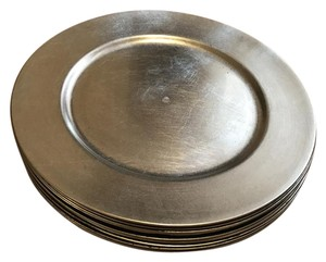 12 Silver Charger Plates