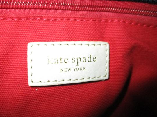 Kate Spade Canvas Leather Tote in black & beige Image 5