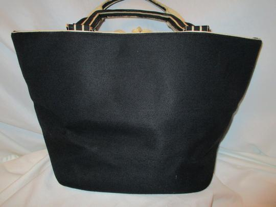 Kate Spade Canvas Leather Tote in black & beige Image 6
