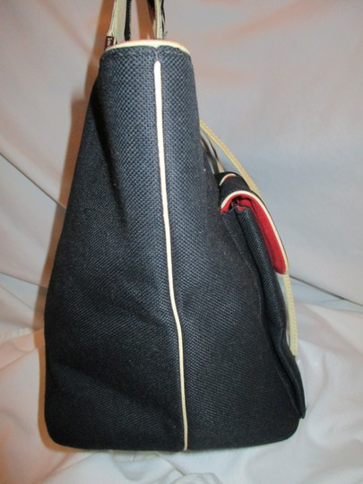 Kate Spade Canvas Leather Tote in black & beige Image 7