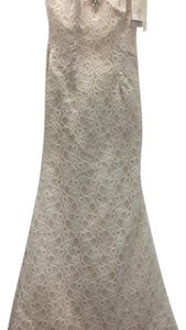Mori Lee Ivory/Champagne Lace 6774 Traditional Wedding Dress Size 6 (S)