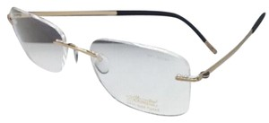 Silhouettes SILHOUETTE Rimless Eyeglasses MOSAIC 5471 20 6051 23kt Gold Plated
