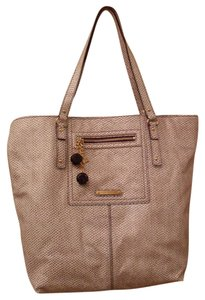 Juicy Couture Paige Leather Tote in Cream