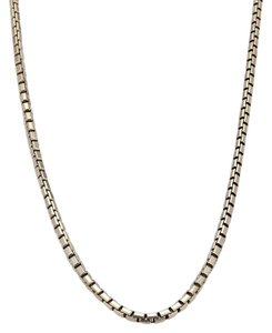 Cartier 18k White Gold Box Link Chain Necklace 16