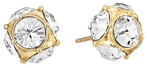 Kate Spade Lady Marmalade Crystal Ball Stud Earrings-Clear / Gold