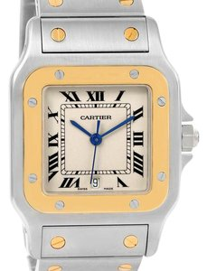 Cartier Cartier Santos Galbee Large Steel 18K Yellow Gold Quartz Watch 1566