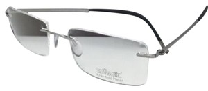 Silhouettes SILHOUETTE Eyeglasses HINGE C-2 5470 60 6052 23K Gold Plated Silver-Bl