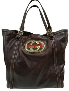 Gucci Gg Leather Britt Soho Shoulder Bag