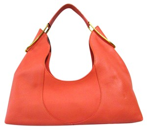 Furla Buckle Pebbled Leather Hobo Bag