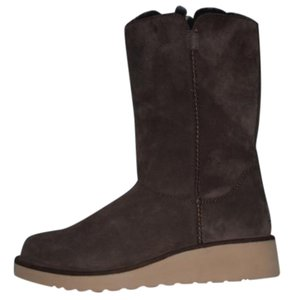 Koolaburra Sample Wedge Winter Suede/Sheepskin Eva Sole Brown Boots