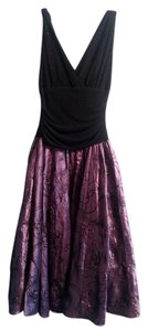 S.L. Fashions Embroidered Fitted Classic Holiday Dress