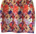 Multicolor Graphic Floral Skirt Size 2 (XS, 26) Multicolor Graphic Floral Skirt Size 2 (XS, 26) Image 1