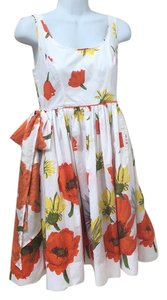 Moulinette Soeurs short dress white with orange and yellow on Tradesy
