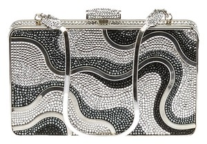 Judith Leiber Evening Crystal Black Silver Silver/Black Clutch
