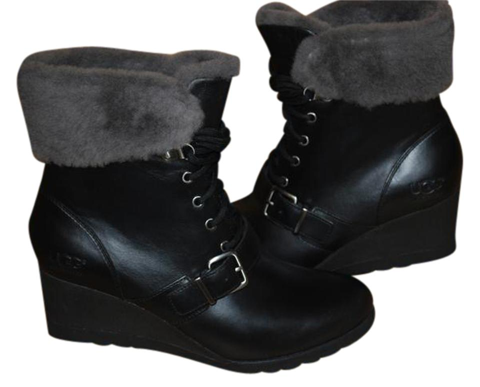 05d79a62ac5 UGG Australia Black Janey Waterproof Leather/Sheepskin Women 1012527  Boots/Booties Size US 8.5 Regular (M, B) 25% off retail