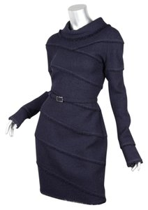 Chanel short dress NAVY 08a Tweed on Tradesy
